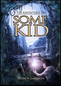 book cover featuring a young boy in the foreground looking at a pyramid rising up from a jungle